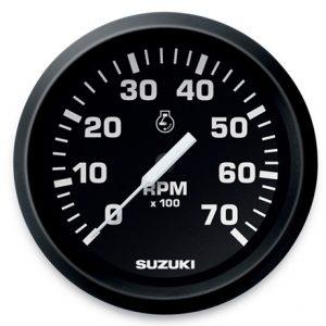 """Suzuki 4"""" Black Face Tachometer 990C0-80000"""