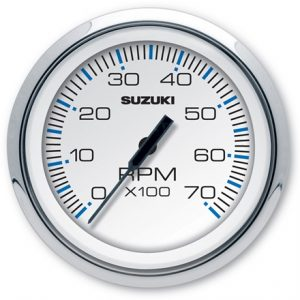 "Suzuki 4"" White Face Tachometer 990C0-80100"