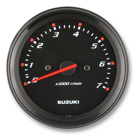 "Suzuki 4"" Black Face Tachometer 34200-93J22"