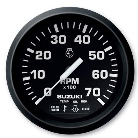 """Suzuki 4"""" Black Face Tachometer 990C0-80001"""